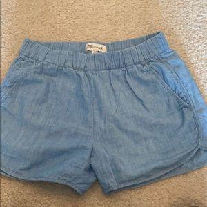Madewell xxs chambray shorts
